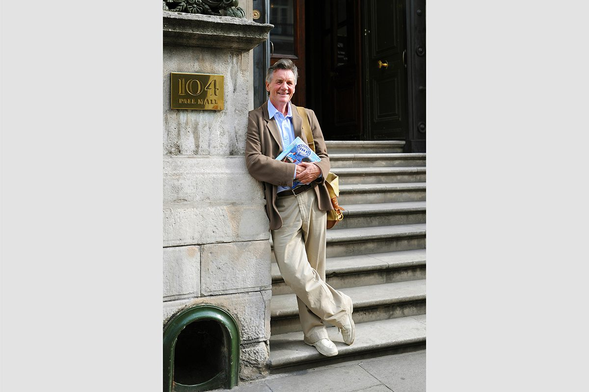 Michael Palin outside the Reform Club, London, 2008. Photograph by David Rowley