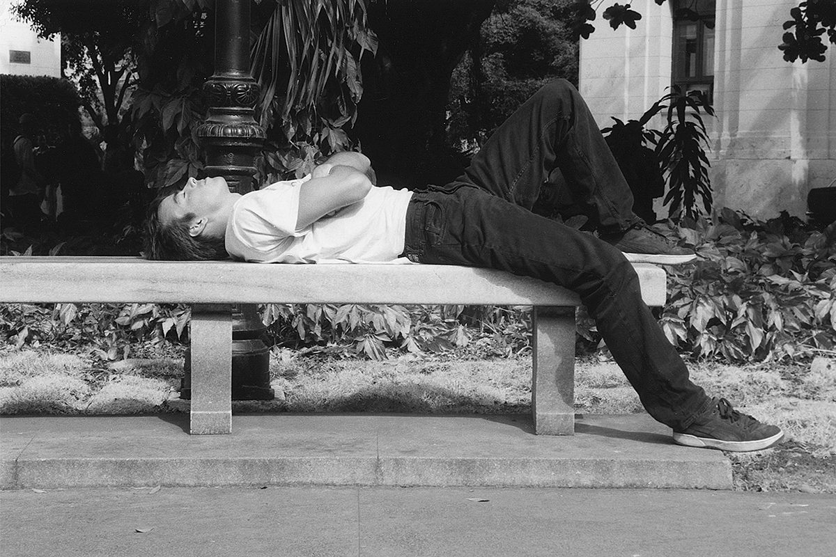Sleeping student, Universidad de Havana, Cuba, 2000. Photograph by David Rowley