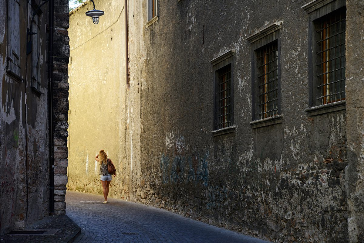 Afternoon light in Trento, Italy, 2016. Photograph by David Rowley